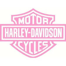 Harley Davidson Pink Bar Shield Car Vinyl Window Decal Sticker Pink 6