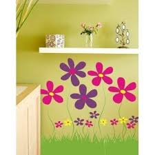 Field Of Flowers Vinyl Wall Decal Jack And Jill Boutique