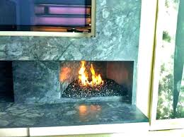 fireplace glass rocks fire gas s