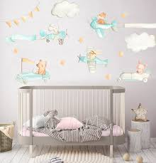 Cars And Planes Nursery Animal Decals Room Murals Baby Wall Etsy