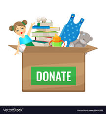 books to donate for children vector image
