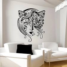 Zooyoo Creative Design Home Decor Cat Women Wall Sticker Living Room Removable Art Vinyl Wall Decal Black Vinyl Wall Decals Wall Decalswall Sticker Living Room Aliexpress