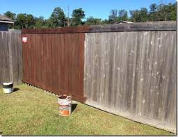 Running And Fence Staining