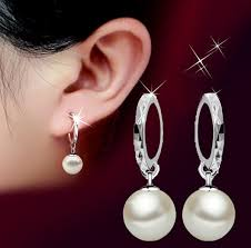 plated s pearl earrings jewelry