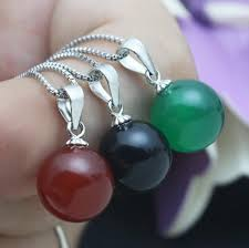 small fresh fashion necklace red black