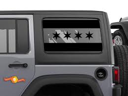 Product City Of Chicago Flag Decal American Jeep Wrangler Jku Window Vinyl Offroad Flag Decal Window Vinyl Jeep Wrangler