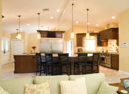 kitchen island with vaulted ceiling