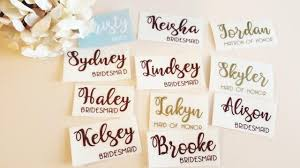 Custom Name Vinyl Decal For Wedding Hangers Champagne Glass Bridesmaid Champagne Flute Vinypersonalized Wine Glass Decal Wedding Party 2926774 Weddbook