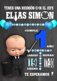 The Boss Baby Invitacion Cumpleanos Del Jefe Cumpleanos Jefe