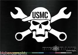 Usmc Decal United States Marine Corps Mechanic Window Truck Car Sticker Made Usa Ebay