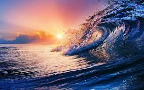 ocean wave nature sunset sea waves