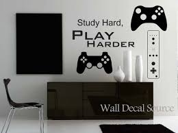 Game Controllers Wall Decal Gamer Wall Decal By Walldecalsource Gamer Room Teenage Boy Room Room
