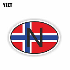 Yjzt 9cm 6cm N Norway Country Code Reflective Creative Body Car Sticker Decal Pvc 6 0202 Leather Bag