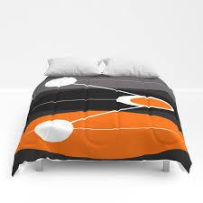 orange black and gray mid century