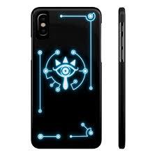 Zelda Sheikah Slate Eye Symbol Phone Case Blue Trinket Geek