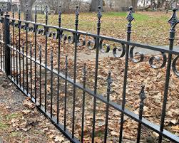 Wrought Iron Victorian Garden Gate Picket Fence Restoration Snow Plow Damage Antietam Iron Works