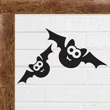 Twin Black Bat Halloween Scary Gothic Vinyl Decal Sticker Car Window Wall Art