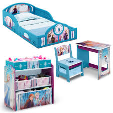 Disney Frozen Ii 4 Piece Room In A Box Bedroom Set By Delta Children Includes Sleep Play Toddler Bed 6 Bin Design Store Toy Organizer And Desk With Chair Walmart Com Walmart Com