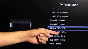How to Change Apple TV Resolution Settings : Apple TV ...