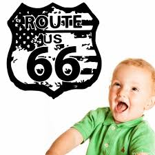 Route 66 Road Sign United States Flag Vintage Wall Graphic Decal Sticker Vinyl Mural Leaving Bedroom Room Home Decor Ny 413 Home Decor Decal Stickersticker Vinyl Aliexpress