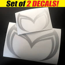 Mazda Evil M Logo Vinyl Sticker Decal Mazda 3 5 6 Rx 7 Rx 8 Mx 5 Miata Two Ebay