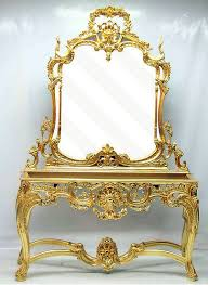 rococo style mirror with console table