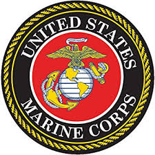 Amazon Com Usmc Emblem United States Marine Corps Seal 5 Round Decal Sticker For Cars Trucks Laptops Etc Full Color Automotive