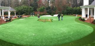 fancy having a giant putting green in
