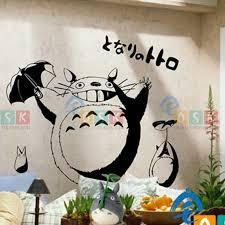 1944527749 Totoro Wall Decal Vinyl Wall Stickers Decal Decor Home Decorative Decoration Anime Totoro Car Sticker Home Garden Home Decor