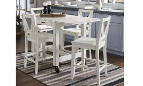 A America Aberdeen White 5 Piece Small Dining Set The Dump Luxe Furniture Outlet