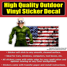 American Flag Hulk Vinyl Car Window Laptop Bumper Sticker Decal Colorado Sticker