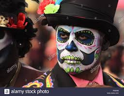 sugar skull makeup at day of the dead