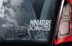 Miniature Schnauzer Car Sticker Black Zwerg Dog Window Sign Decal Gift Pet V04 Ebay