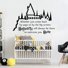 Harry Potter Wall Decal Hogwarts Road Sign Vinyl Sticker Home Movie Decor Poster