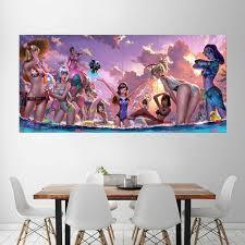 Overwatch Pool Party Block Giant Wall Art Poster