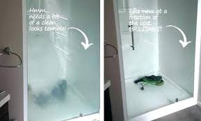 water stains from shower doors roni