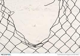 Broken Chain Link Fencing Stock Photo 64748057 Megapixl