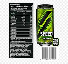 sd shot energy drink nutrition facts