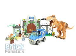 Lego Juniors Jurassic World Fallen Kingdom 10758 T Rex Breakout Review