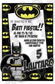 Tarjetas Invitaciones Cumpleanos Batman Lego X10uni 60 00 En