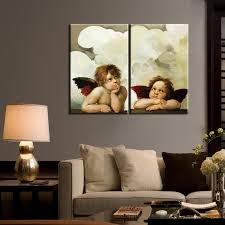 2panel Big Size Hd Print Angel Been Thinking Oil Painting On Canvas Poster For Kids Room Wall Art For Living Room Decor Cuadros Wallcorners Art Canvas