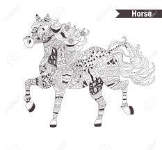 Paard Kleurboek Voor Volwassen Antistress Kleurplaten Hand