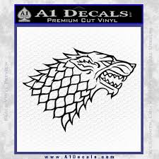 Game Of Thrones Decal Sticker House Stark A1 Decals