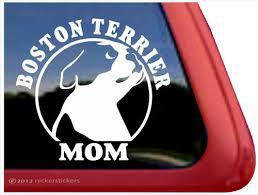 Boston Terrier Mom Dog Decals Stickers Nickerstickers