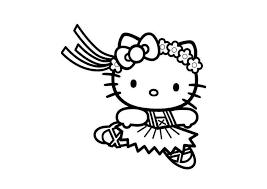 Tranh tô màu cho bé hình mèo Kitty - Hình tô màu Hello Kitty đẹp ...