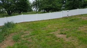Residential Fencing 4 Vinyl Privacy Fence Installation In Koppel Pa White Vinyl Fence Backyard View