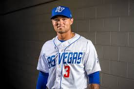 51s outfielder L.J. Mazzilli during the 51s media day at Cashman Field in  Las Vegas on Tuesday, April 3, 2018. Patrick Connolly Las Vegas  Review-Journal @PConnPie | Las Vegas Review-Journal