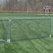 Chain Link Porta Fence These 4 H X 10 W Portable Fence Panels Are A Great Alternative To Plastic Fence Panels And C Garden Fence Panels Fence Backyard Fences