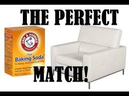 clean white leather with baking soda