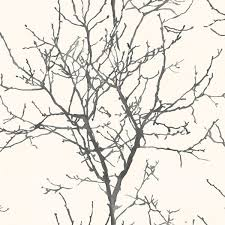non woven painted tree silhouette